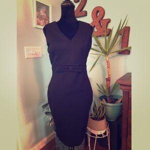 Lulu's Black Body Con 🖤 Dress with Bow
